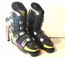 Rossignol CourseE Course E Ski Boots Black Yellow Mens 11 28.5 Vintage Rare