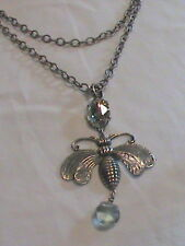Bee Pendant Necklace with Toggle Closure