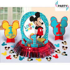 MICKEY MOUSE 1ST BIRTHDAY PARTY SUPPLIES VALUE TABLE DECORATING KIT