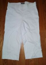 Woman's White Capris Counterparts Size 12 Stretch