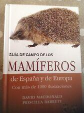 Guía De Campo De Los Mamíferos De España Y De Europa  Editorial Omega