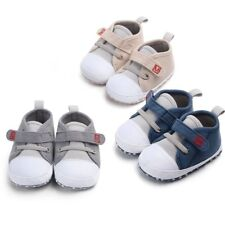 Newborn Baby Boy Girl Casual Canvas Shoes Letter First Walkers Soft Sole Shoes L
