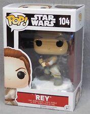 Star Wars The Force Awakens Rey with Lightsaber Vinyl Bobblehead - FUNKO POP!