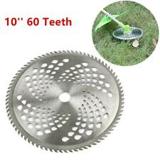 10'' 60 Teeth Lawn Mower Grass Eater Trimmer Head Brush Cutter Weeds Blade Razor