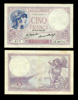 FRANCE 5 FRANCS 1931 P 72 XF SEE SCAN