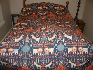 Martex Inger McCabe Elliot MAGICAL Kingdom IKAT KING Flat Sheet lions horses