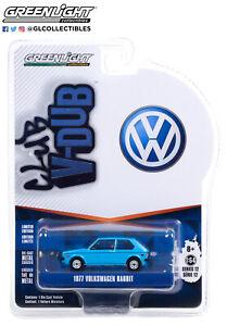 Greenlight 1/64 Club V Dub 12 1977 Volkswagen Rabbit Miami BLUE  36020E