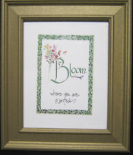 Framed Print Bloom Where You Are Planted