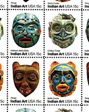 1980 - INDIAN ART - #1834-37 Full Mint -MNH- Sheet of 40 Postage Stamps