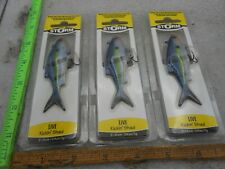 """NEW Lot of 3- Storm Live Kickin BLUE STEEL SHAD 1/4oz  3/8"""" FISHING LURES"""