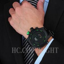 Reloj pulsera OHSEN para hombres de moda caja de acero inoxidable de cuarzo analógico fecha Sport
