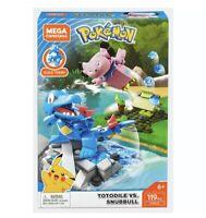 Mega Construx Pokemon Totodile Vs. Snubbull Dom Building Set FVK70 119 pcs.