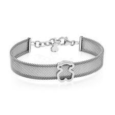 Cute Baby Bear Bracelet Mesh Silver Bracelet Woman Charm Jewelry Gift
