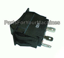 BASIC ON-ON ROCKER SWITCH, 20AMP, 3/4HP, 3 PRONGS, NEW