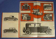 Amilcars New Straight 8 Brochure Katalog Oldtimer Auto Prospekt 20er Jahre A162