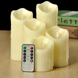 Hot Edition Flameless Flickering LED Candles Battery Tea Lights Remote Control