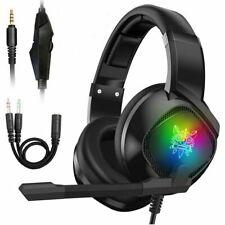 3.5mm Gaming Kopfhörer Mikrofon Stereo Headset für PS4 Xbox One PSP PC Laptop DE