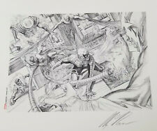 Alex Ross Signed Giclee of Sketch-Sinister Six-Spiderman,Mysterio,Doc Oc,Electro