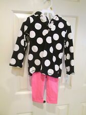 NWT Carters Toddler Girl 2-pc Spring Fall Winter Set Outfit Fleece Hoodie 3T