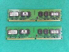 2GB DDR2-667 PC2-5300 RAM memory kit (2x1GB) Kingston KVR667D2N5K2/2G 667mhz