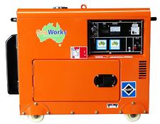 Portable Diesel Generator 6kVA 240Volt in canopy