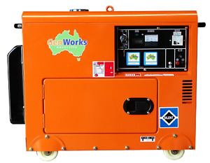 Portable Diesel Generator 6kVA 240Volt in canopy