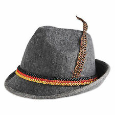 Mens Oktoberfest Feather Fancy Hats German Trenker Bavarian Beer Party Festival