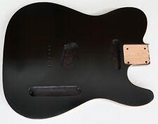 More details for telecaster tele style double bound alder body: matt black finish