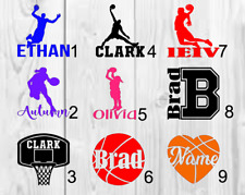 Basketball personalized name Decal Single Color 3inchx3inch A