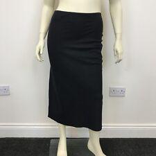 George Ladies Black Linen Look Long Mid Length Formal Smart Skirt UK Size 12