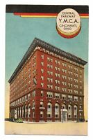 1940s Central Parkway YMCA Building Cincinnati Ohio OH Linen Postcard