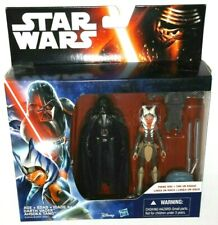 "Star Wars Darth Vader vs Ahsoka Tano Rebels B3959/B3955 3.75"" inch lightsabers"
