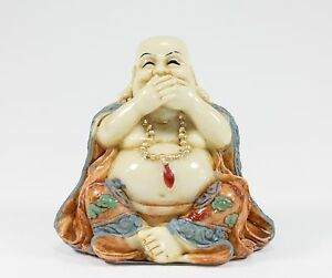 Feng Shui Speak No Evil Happy Face Laughing Buddha Figurine Home Decor Statue