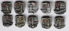 Cities-Heroes of the Soviet Union. Collection 10Pcs (Heavy Badges)