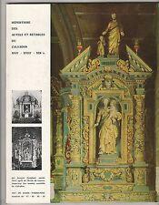 Répertoire des autels et retables du Calvados Art de Basse Normandie n°46 à 50