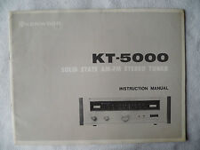 KENWOOD KT 5000. INSTRUCTION MANUAL von. 1970,KT 5000 TUNER ZUSTAND GUT,ENGLISCH