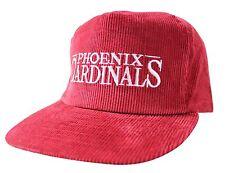 NEW VTG 90s PHOENIX CARDINALS Corduroy CAP Deadstock Strapback HAT NWOT Arizona