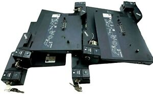 (LOT OF 6) IBM Lenovo Thinkpad Docking Station Type 2504 42W4639 42W4638 w/ Keys