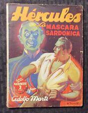 Vintage HERCULES La Mascara Sardonica by Adolfo Marti VG 4.0 Spanish Paperback