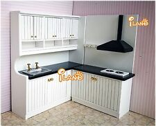 1/12 Dollhouse Kitchen Dining Room Furniture Set 2 Cabinets WD0053