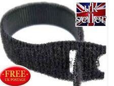 VELCRO® Brand ONE WRAP® 10 x 25mm x 300mm Cable Tie BLACK Double Sided Strapping