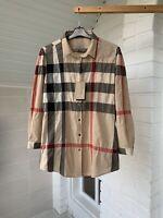 Women's Burberry Brit Nova Check Cotton Long Sleeve Shirt Size XL