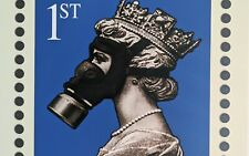 James Cauty Stamp of Mass Contamination 1st class signed Terror Aware Queen 32