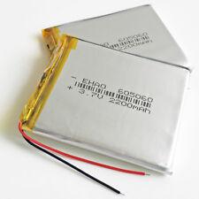 2 pcs 3.7V 2200mAh LiPo Polymer Battery 605060 For Mobile phone Recorder Camera