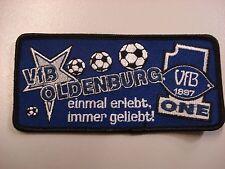 """RARITÄT ! Aufnäher """"Einmal erlebt immer geliebt"""" VFB Oldenburg Fussball"""