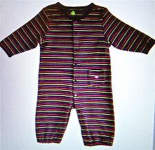 Unisex soft Stripe 2 ways PJs Snap buttons EC potty training thick 100% cotton