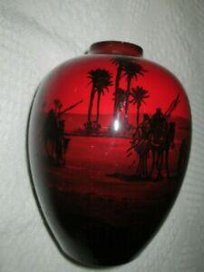 vintage royal doulton flambe vase