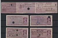 british india court fees revenue stamps  ref r11566