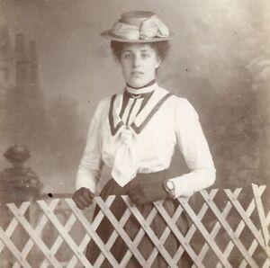 Edward L Leach Oxford portrait young lady cabinet photograph card cdv antique 34