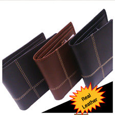 Purse Leather Wallet Designer Coin Card Men Small Genuine Real Soft Cash Gents